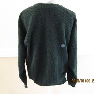 3806df014c16d3 TRADER BAY CREW SWEATER IN HUNTER GREEN SIZE L